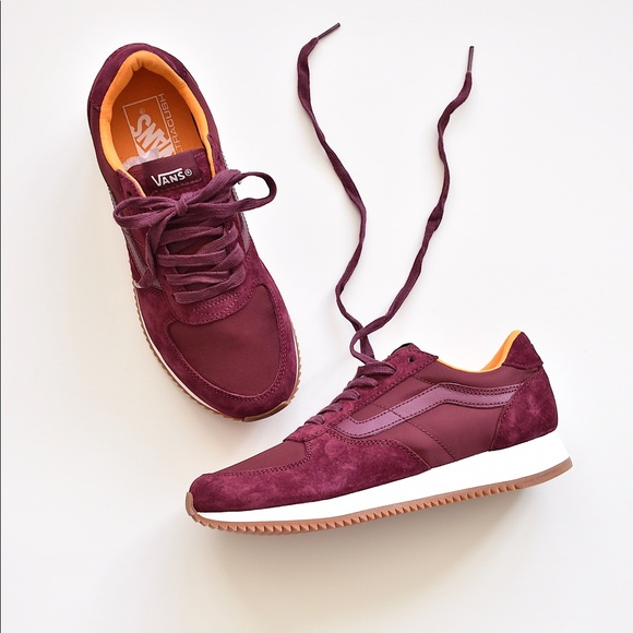 9ad6aa3ca4f Vans Shoes | Boom Boom Runner Burgundytrue White Sneaker | Poshmark
